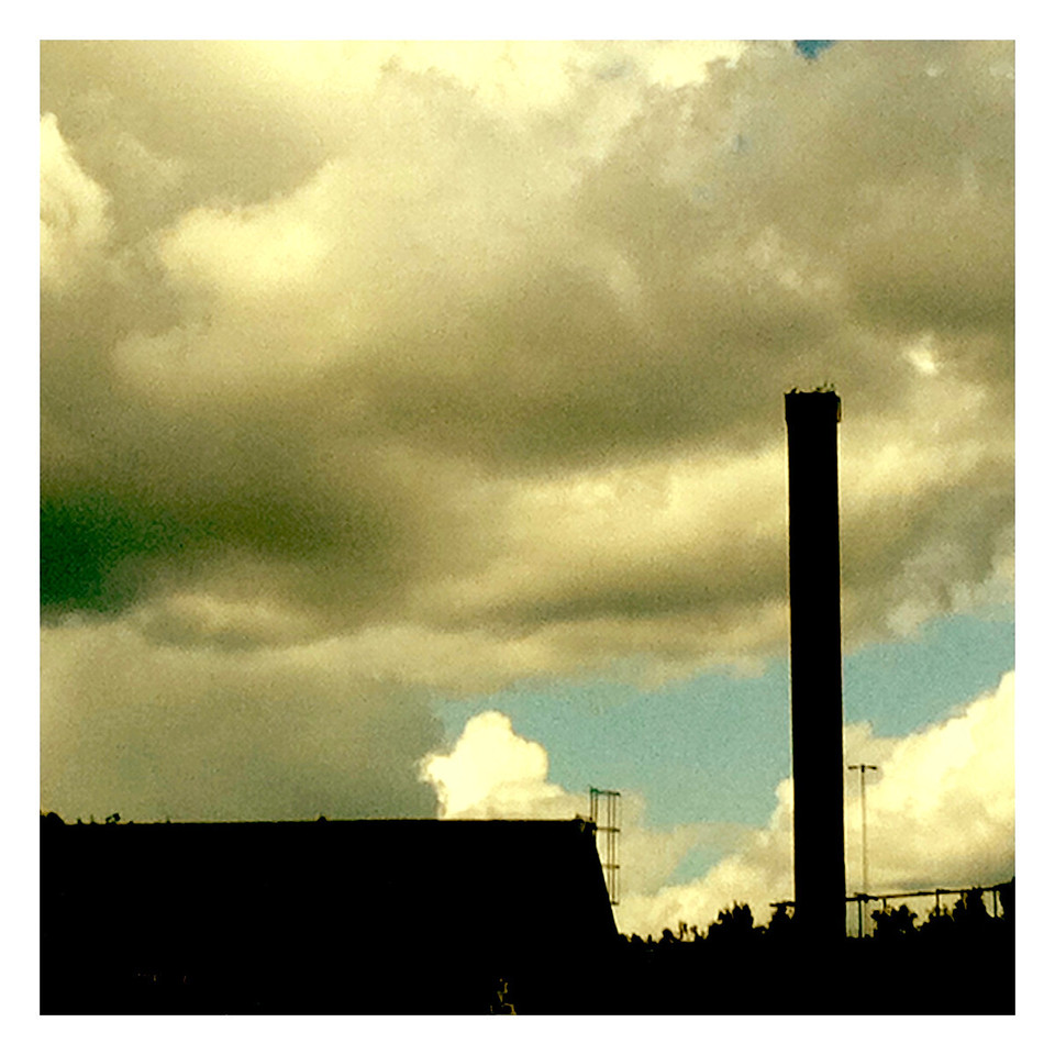 Skorsten vid järnverket i Avesta