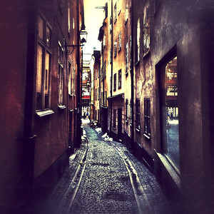 Small alley in Old Town, Stockholm