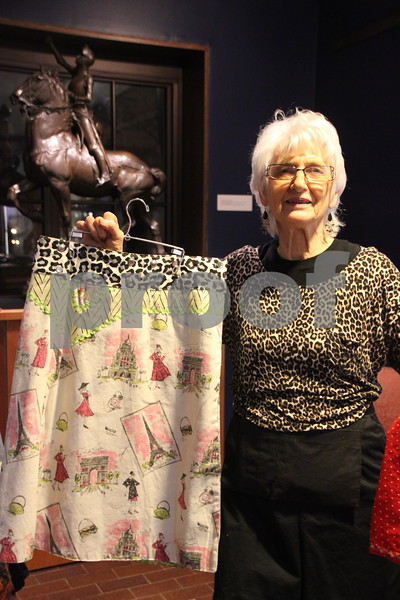 Blanden Museum's Christmas Open House was held on Saturday, December 12, 2015 in Fort Dodge. Pictured with one of the items she made is: Laurel Mors. She was one of the many artists on hand. There was plenty of refreshments and live music to be enjoyed as well as the great arts and crafts and the artists and crafters who made them on hand. Something for most everyone to enjoy.