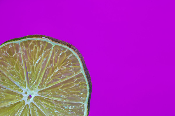 Lime on Purple
