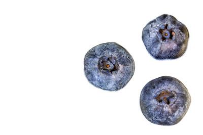 Blueberries In Milk