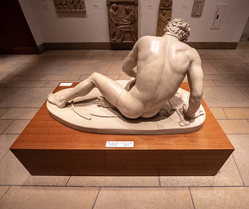Male sculpture.