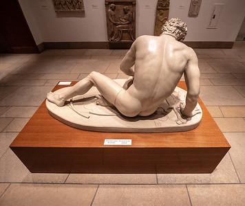 Male sculpture.
