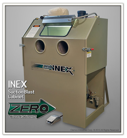 INEX Suction Blast Cabinet with 300 cfm Reclaimer and Dust Bag Stock NO. 20261