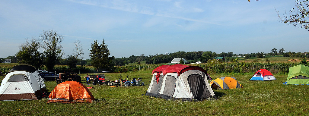 Camping on Dragonfly Farm, August 2013
