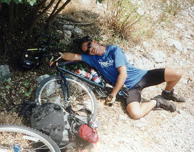 Biking in the Mountains of some Greek Island with a couple of Shipmates... September 1996