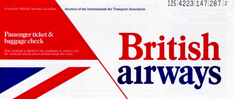 Ticket from Izmir to Seattle<br /> 1 January 1982