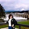Move from Washington to Utah<br /> Bonneville Dam Spillway - Bedford Island Visitor Center<br /> March 1983