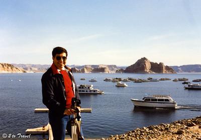 Trip to Glen Canyon National Recreation Area Lake Powell, Wahweap Marina - Rainbow Cruise 13 March 1984