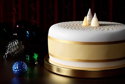 20181121 - Golden Shimmer Tree Christmas Cake