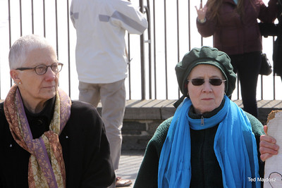 Pax Christi International co-president Marie Dennis and Judith Kelly
