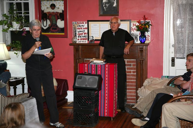 Kathy Boylan and Bishop Thomas Gumbleton