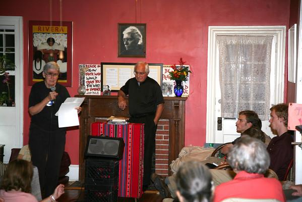 Bishop Gumbleton Speaks at Catholic Worker House D.C.