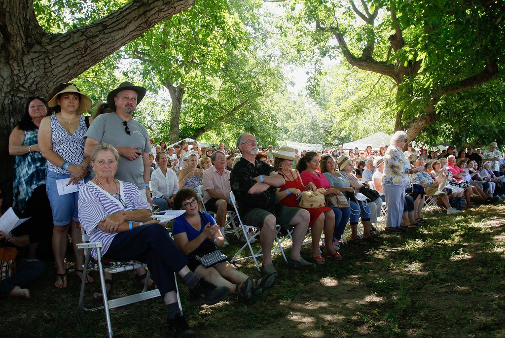 . The 11th annual Blessing of the Grapes Saturday July 22, 2017 at the New Clairvaux Vineyard in Vina, California.   (Emily Bertolino -- Enterprise-Record)