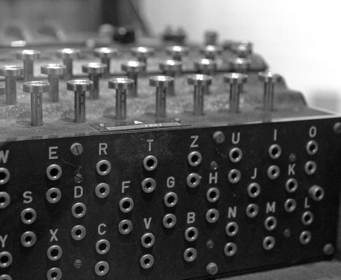 Enigma machine with plug board