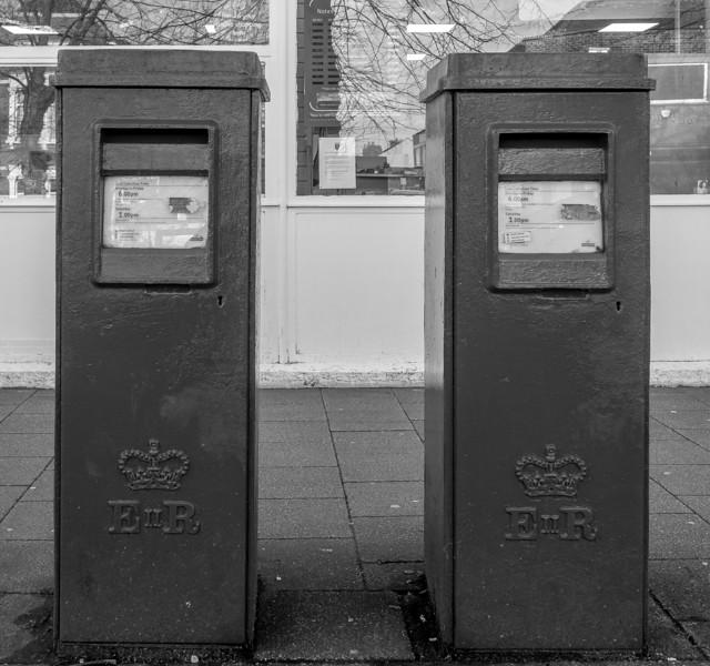 Type G Pillar Box, Bletchley Post Office