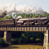 N&W Class A 2-6-6-4 No. 1218 Crosses Bull Run Creek in North Knox County.