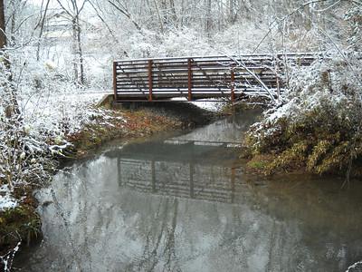 Snow at Gino's Swimming Hole