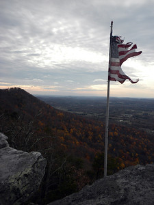 House Mountain Tattered Flag