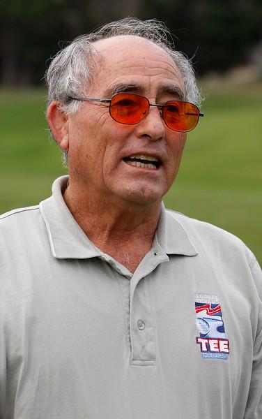 Blind golfer Carlos Franco