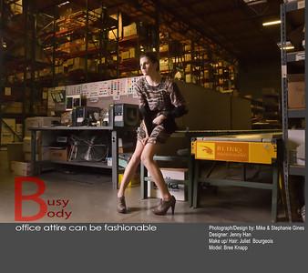 Busy Body  Photos & Design by Blinkit Photography Designer: Jenny Han Makeup / Hair: Juliet Bourgeois Model: Bree Knapp