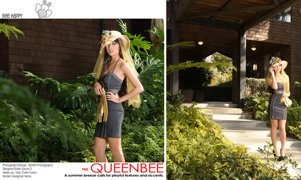 "The Queen Bee - A summer breeze calls for playful textures and accents<br /> ""Bee Happy"""