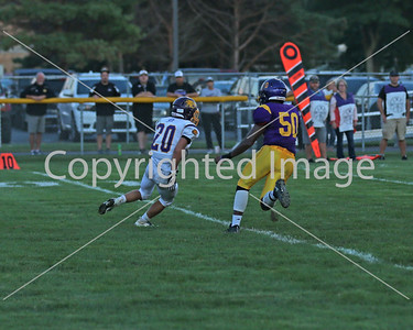 Ricky Eisenmann with the tackle on the kickoff