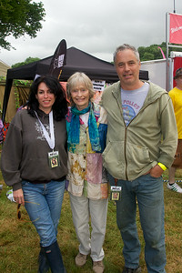 Virginia McKenna with Mel and Paul Bliss @ Blissfields 2014