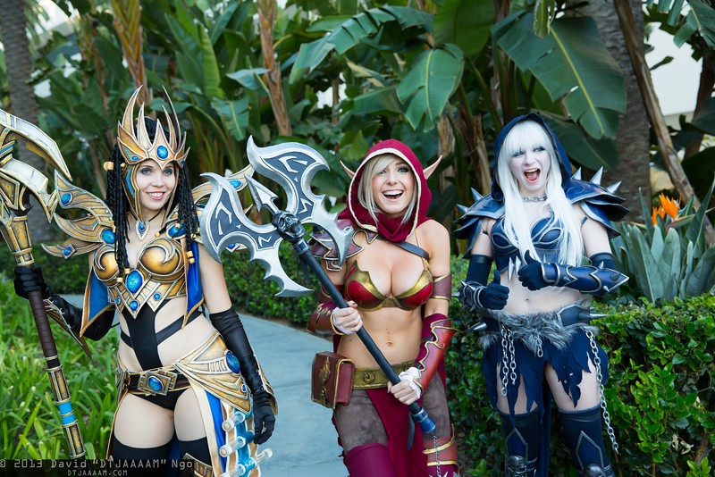 Protoss Wizard, Blood Elf, and Death Knight