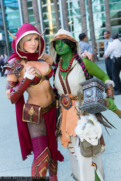 Blood Elf and Thrall