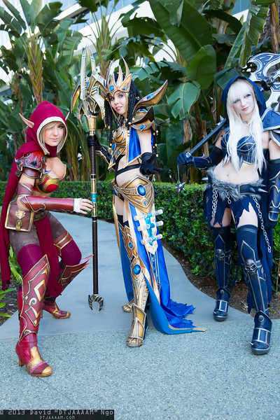 Blood Elf, Protoss Wizard, and Death Knight
