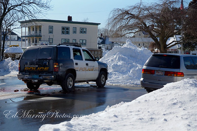 Cliftondale Square is being used as a staging area for alot of the snow...