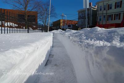 The sidewalks are no passable