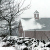 Barn scene during the Blizzard on High Street in Dunstable. Nashoba Valley Voice Photo by David H.Brow