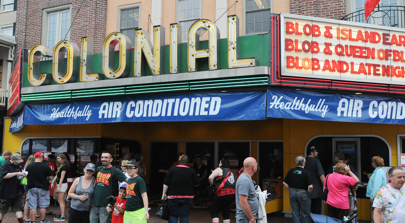 John Strickler - Digital First Media<br /> Crowds of sci-fi buffs were in Phoenixville Saturday for the Blob fest. The centerpiece icon is the Colonial Theater which was featured in the cult film classic.