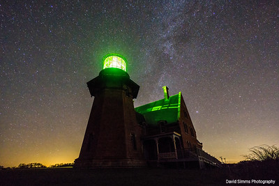 Stars over Southeast Lighthouse
