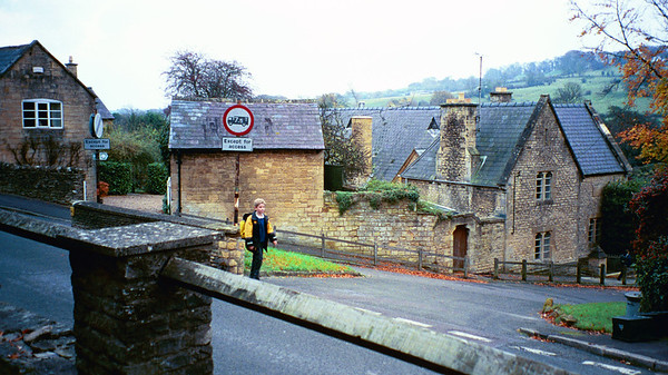 High Street and School Lane, Blockley, England
