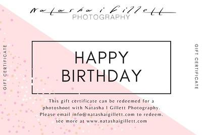 Pink Minimalist Modern Hotel Gift Certificate