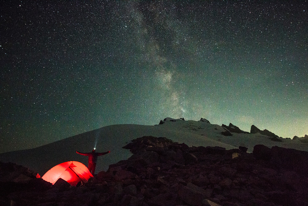 Camping under the Milky Way on the Challenger Arm - this is what we live for!