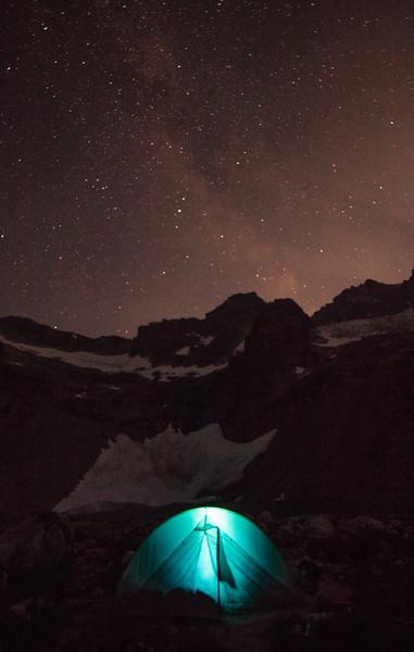 Camping at Luna Lake under the stars.