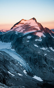 Looking west at Whatcom Peak during sunrise. Amazing to see the ground we'd covered yesterday.