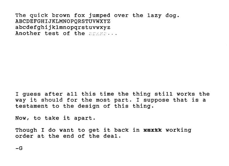 Typewriter Trials 1