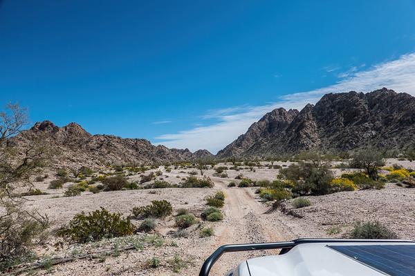 El Camino del Diablo, Tinajas Altas Mountains, Barry Goldwater Range, Yuma county Arizona USA