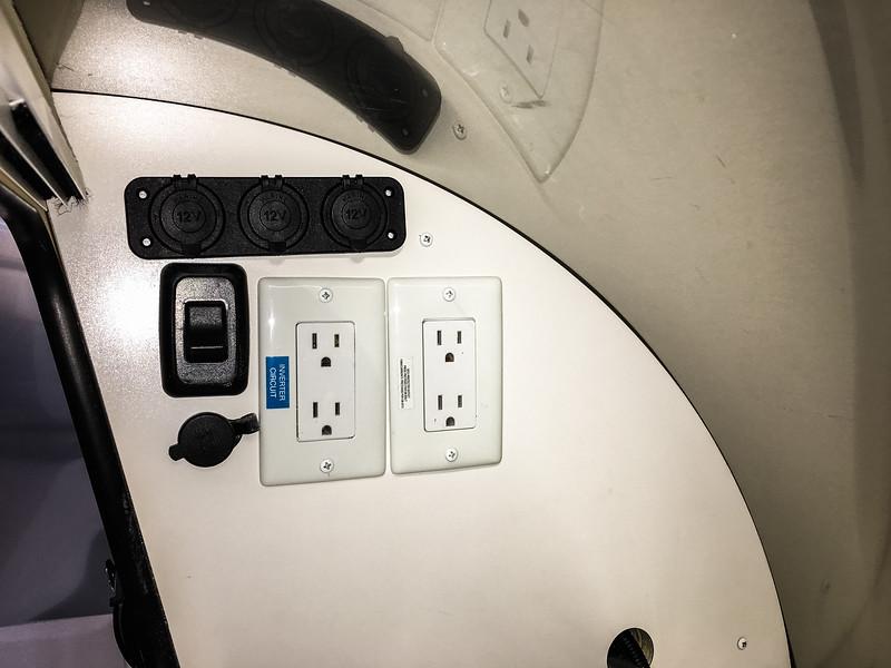 Added three 12V adapter sockets
