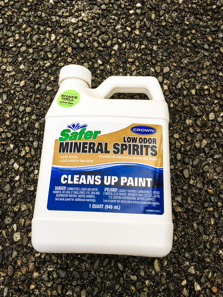 Mineral spirits to clean roof for VHB tape