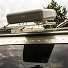 Yagi antenna in stored position.