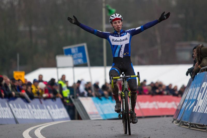 Jens Dekker (NED) was the Junior Men winner at 2016 GP Adrie van der Poel UCI World Cup cyclocross race in Hoogerheide, Netherlands