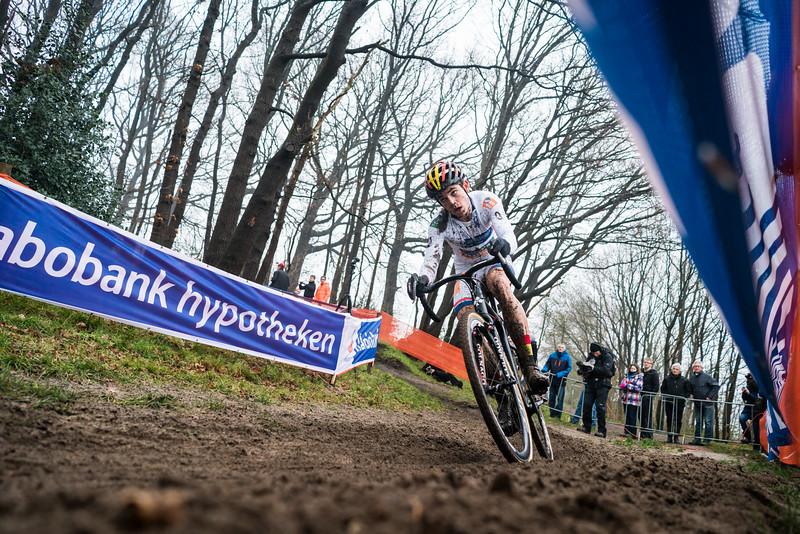 Wout van Aert (BEL) races the 2016 GP Adrie van der Poel UCI World Cup cyclocross race in Hoogerheide, Netherlands