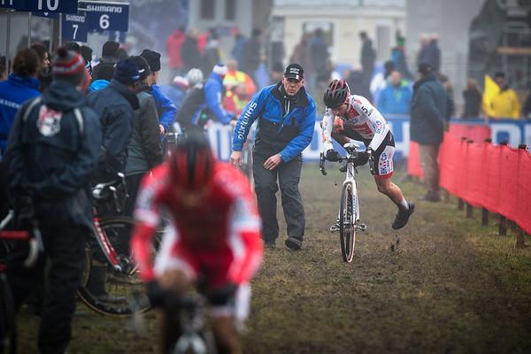 David van der Poel with a bike exchange.