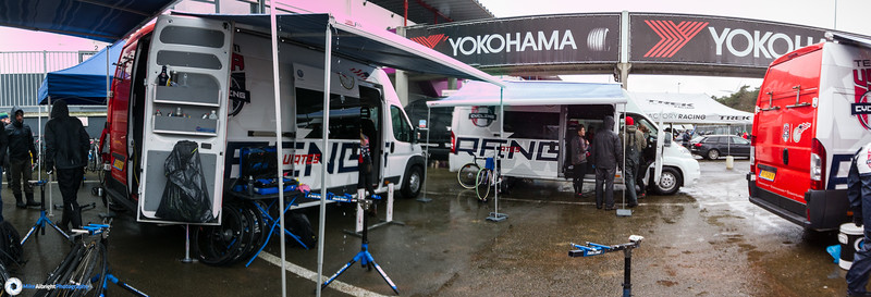 Team USA's pit area was impressive.